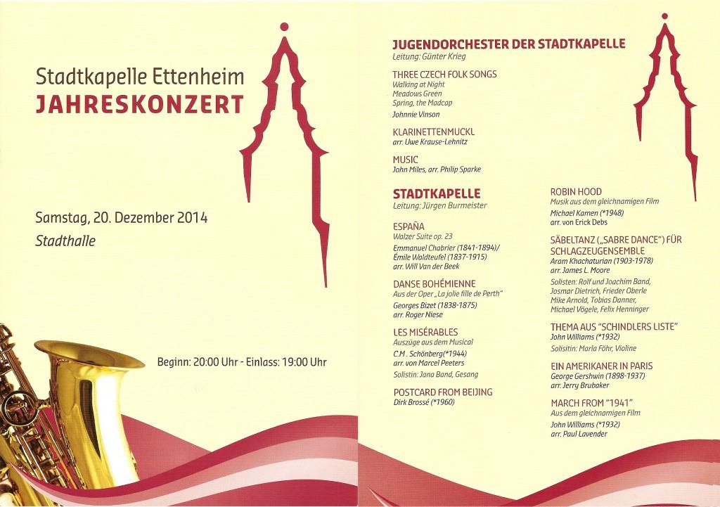 Jahreskonzert 2014