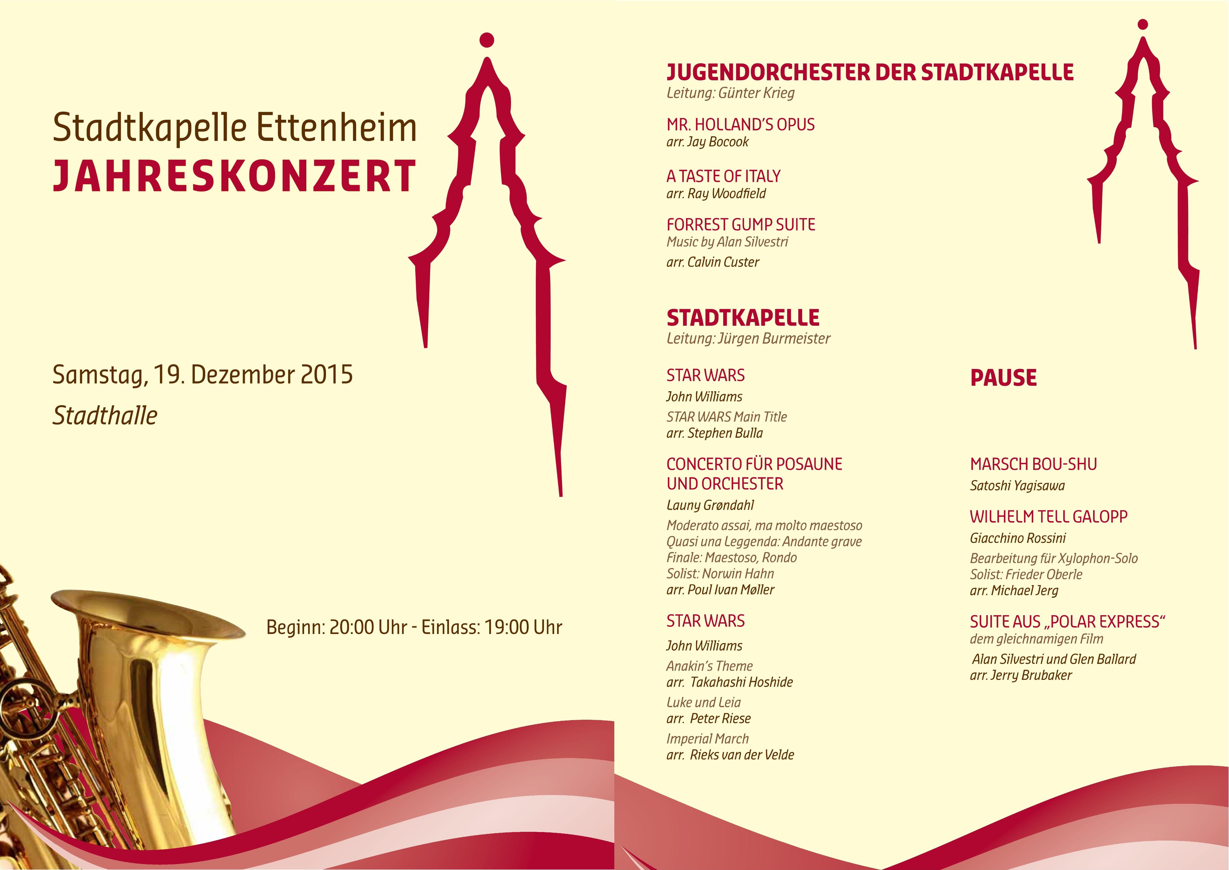 Jahreskonzert 2015 Programm 2